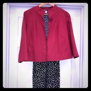 Rafaella red linen blazer